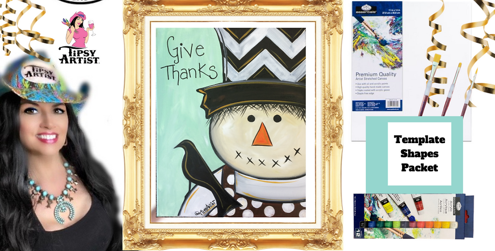 Give Thanks Scarecrow   ~ Painting Party Pack