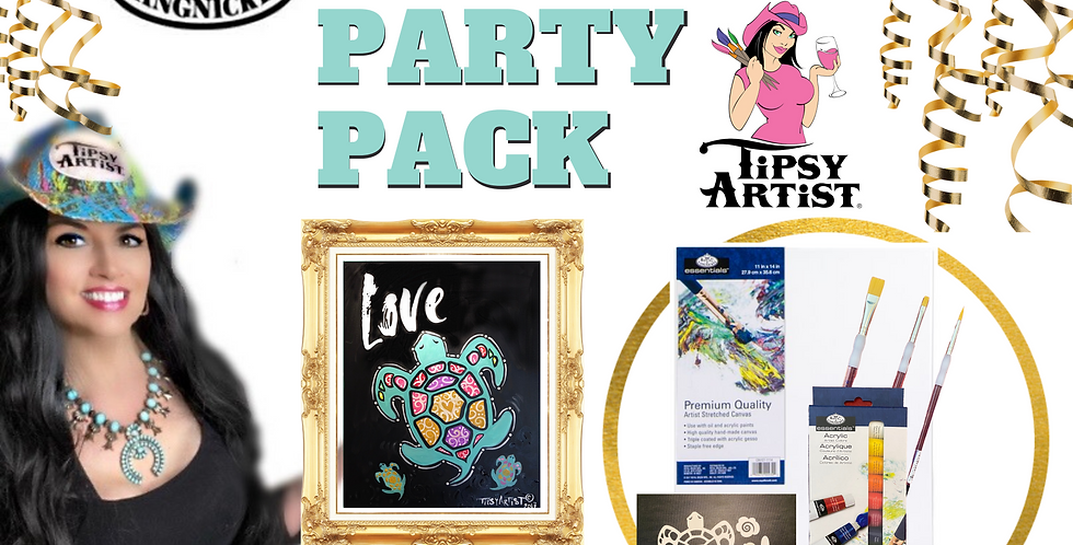 Sea Turtle Momma & Baby Painting Party Pack