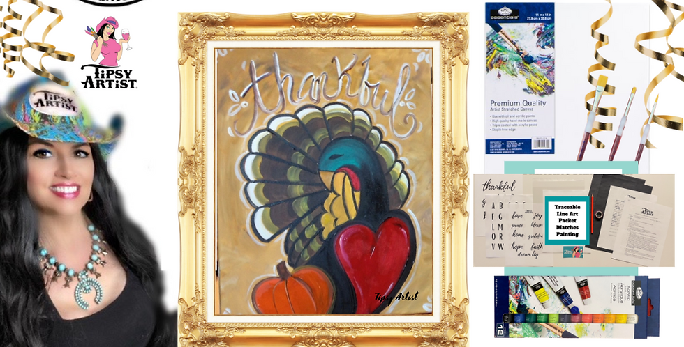 Thankful Turkey Painting Kit ~ Painting Party Gift
