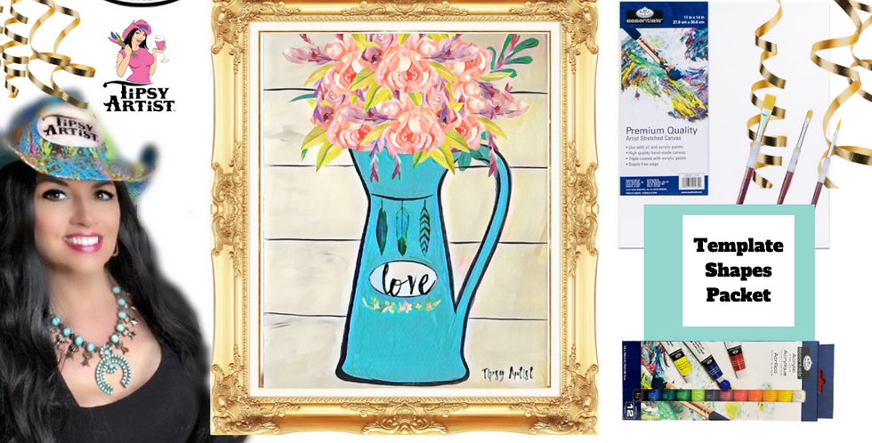 Pitcher of Roses ~ Painting Party Pack