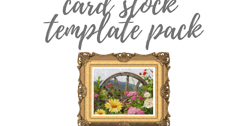 Wagon Wheel with Flowers Template Pack with Online Video