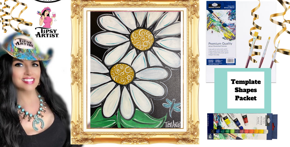 Daisy Dragonfly ~ Painting Party Pack
