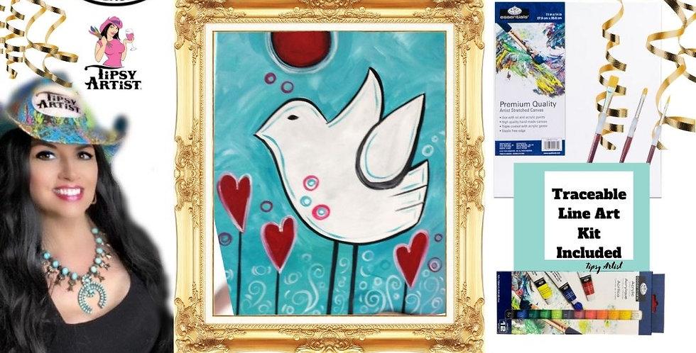Bird of Love ~ Painting Kit