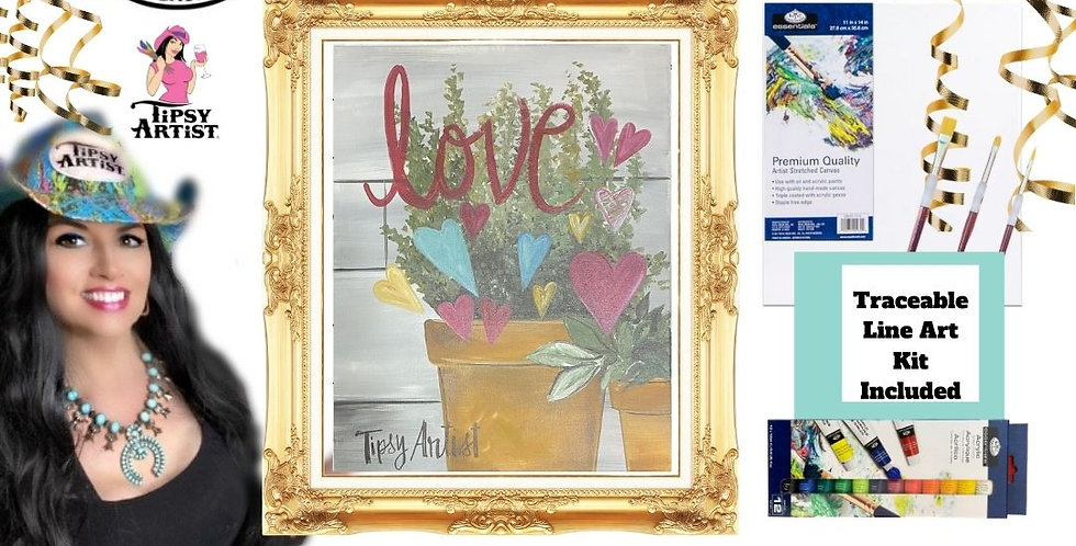 Make Love Grow ~ Painting  Kit