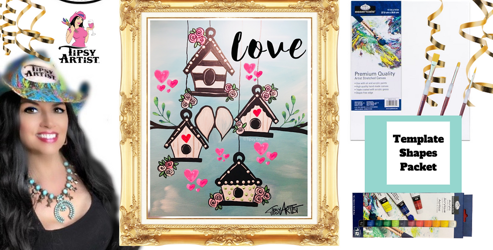 Love Bird Houses~ Painting Party Pack