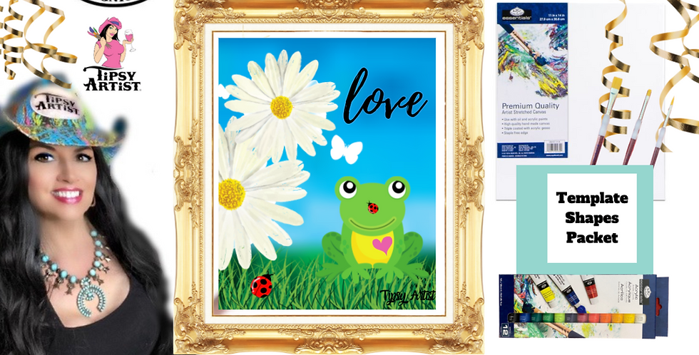 Frog & Daisies~ Painting Party Pack