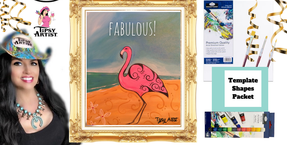 Fabulous Flamingo ~ Painting Party Pack