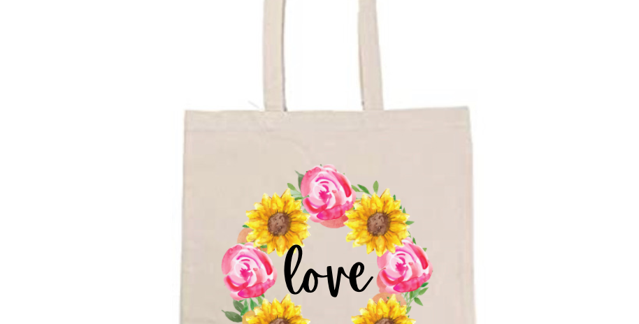 Love Sunflower & Rose Wreath ~ Painting Kit