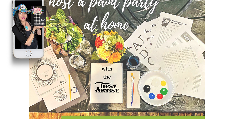 Host a Tipsy Artist Paint Party Kit