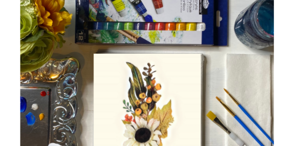 Welcome Flowers Painting Kit ~ Painting Party Gift Pack
