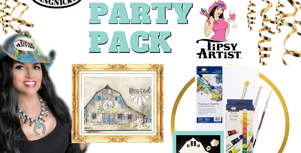 Blessed Barn Painting Party Pack