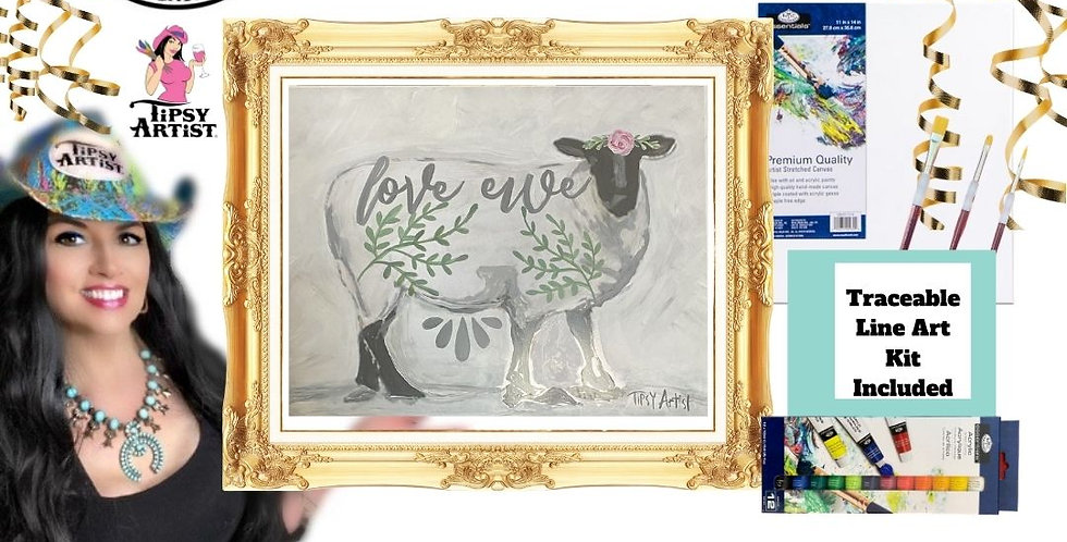 Love Ewe ~ Painting Kit