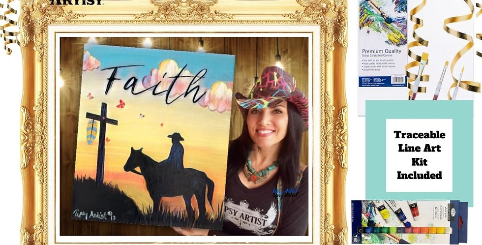 Faith Cowboy at the Cross ~ Painting Kit