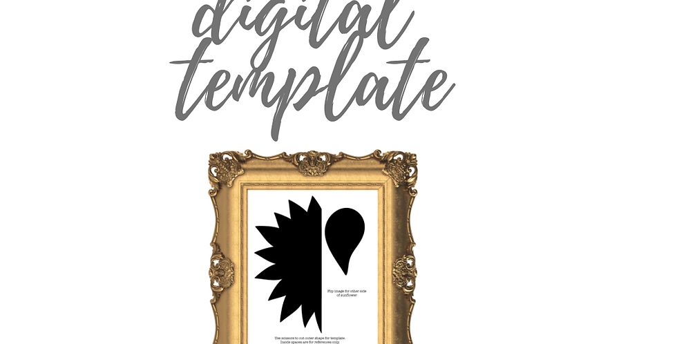 Joy Sunflower Digital Template Pack
