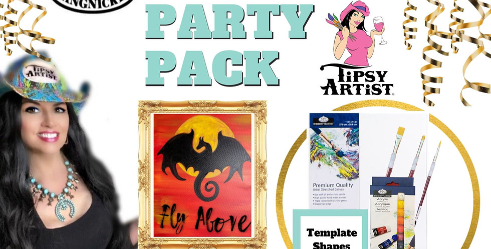Flying Dragon  ~ Painting Party Pack