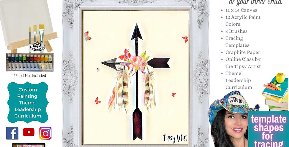 Feathers & Arrows Cross ~ Painting Party Pack