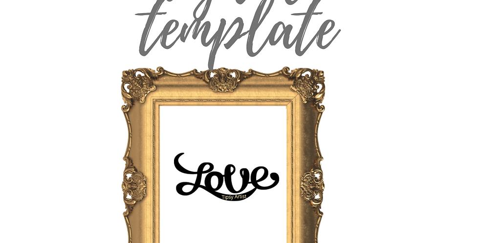 Love (B) Curvy Template Pack