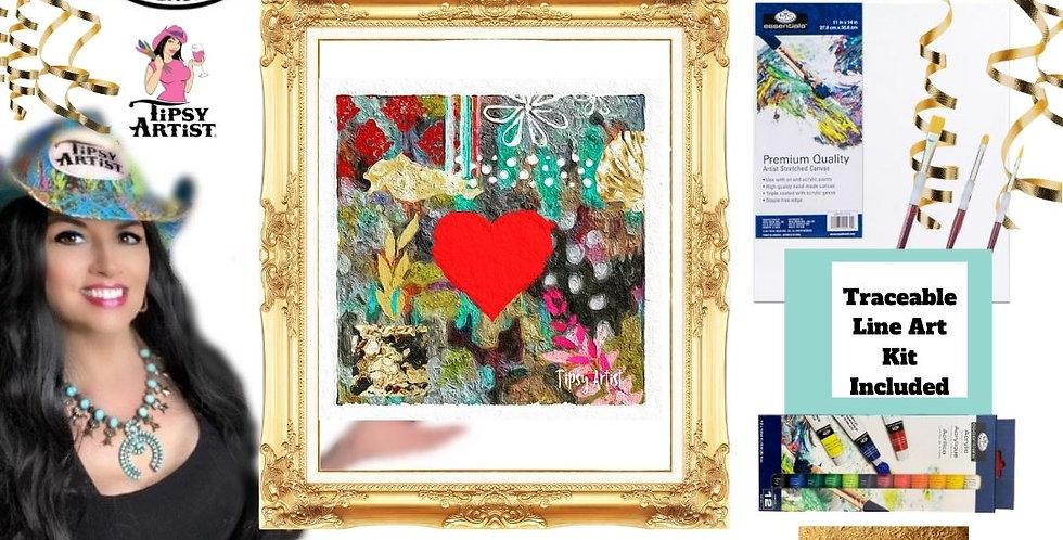 Happy Heart Painting Kit