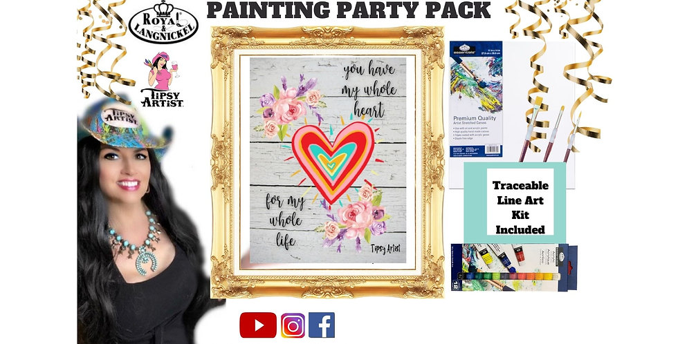 Love You with My Whole Heart ~ Painting Kit