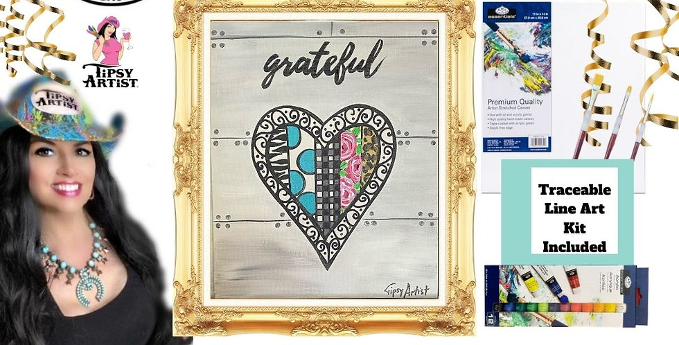 Grateful Heart  ~ Painting Kit
