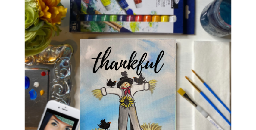 Thankful Scarecrow Painting Kit ~ Painting Party Gift Pack