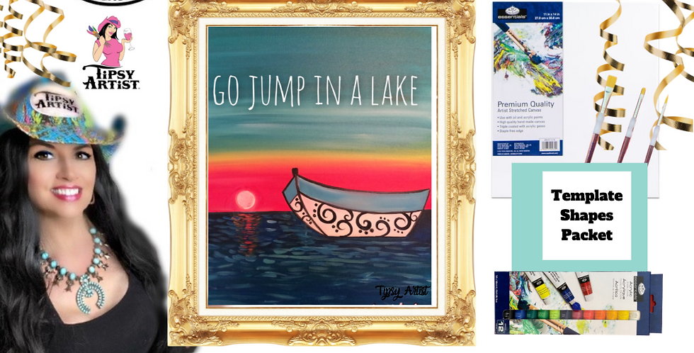 Go Jump in a Lake ~ Painting Party Pack