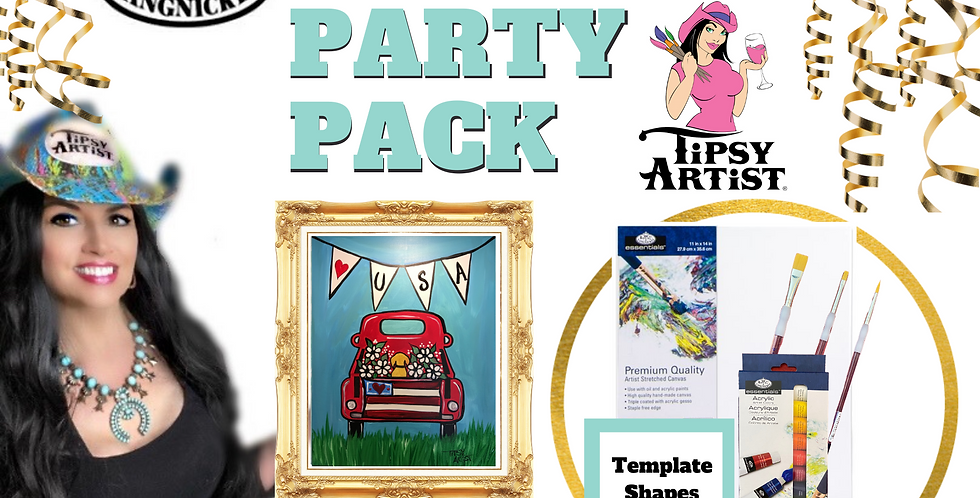 USA Pickup Truck ~ Painting Party Pack