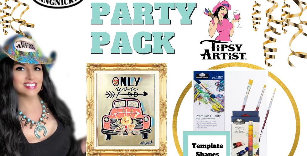 Only You Front Pick Up with Roses ~ Painting Party Pack
