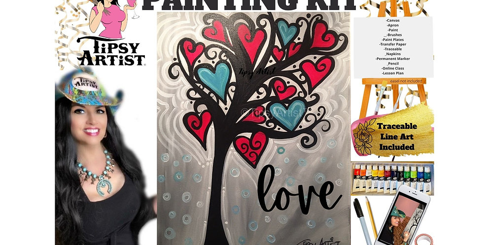 Love Hearts Tree ~ Painting Kit