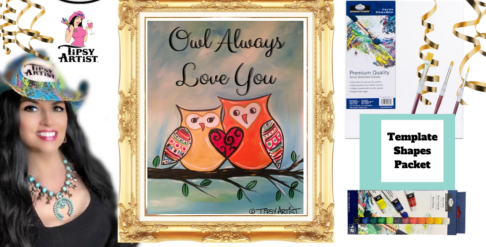 Owl Always Love You   ~ Painting Party Pack