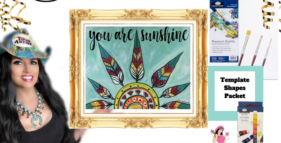 You are My Sunshine ~ Painting Party Pack