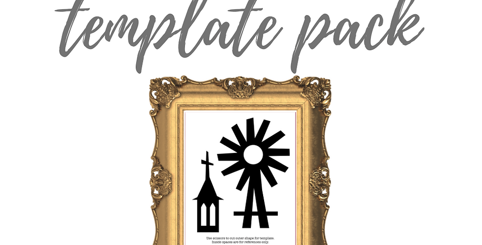 Faith Windmill & Church Cardstock Template Pack with Online Video C