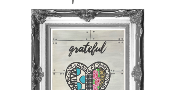 Grateful Quilt Heart Traceable Pack with Graphite Paper