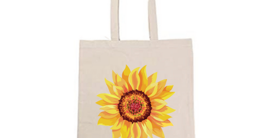 Sunflower Tote Bag ~ Painting Kit