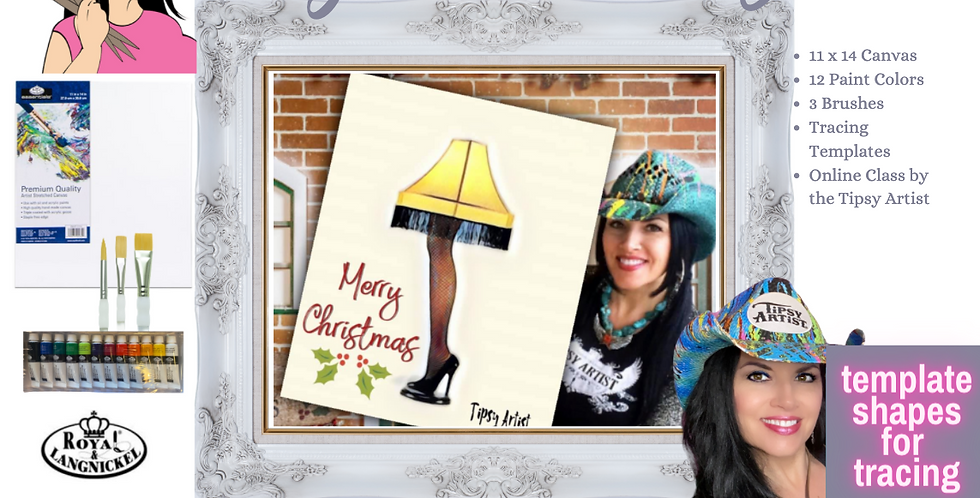 Leg Lamp Christmas ~ Painting Party Pack