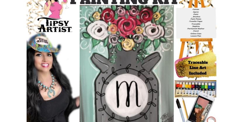 Monogram Milk Can ~ Painting Kit