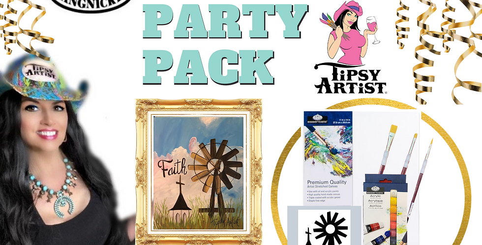 Faith Windmill and Church Painting Party Pack