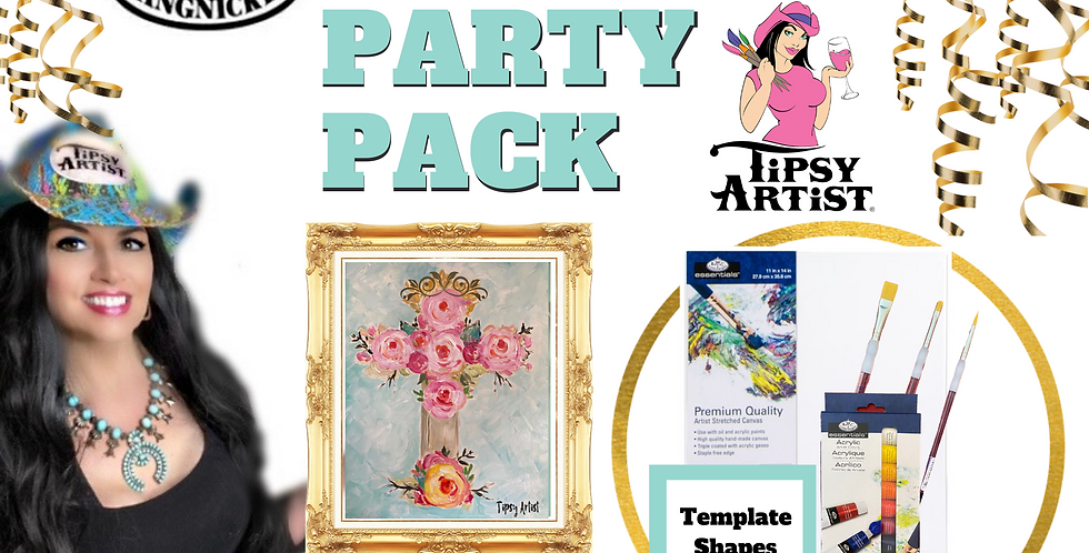 Old Rugged Rose Cross ~ Painting Party Pack