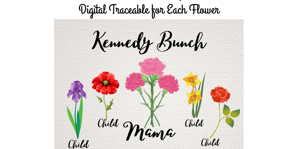Custom Birth Flowers for Mom ~ Perfect Mother's Day Gift!