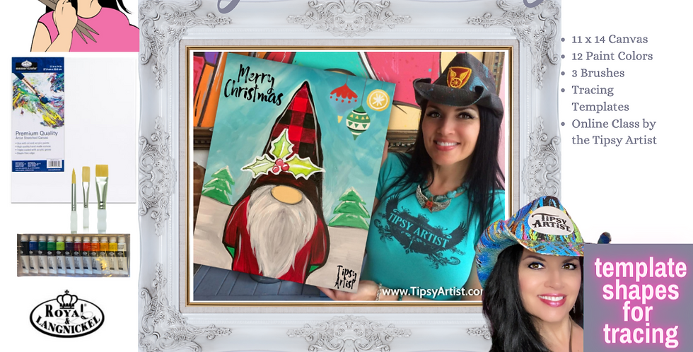 Gnome Christmas ~ Painting Party Pack