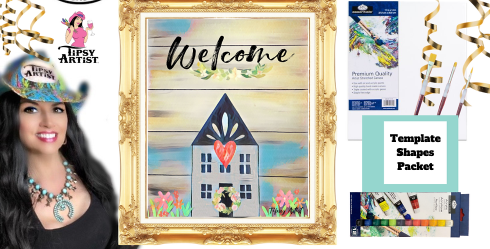 House Warming Welcome ~ Painting Party Pack