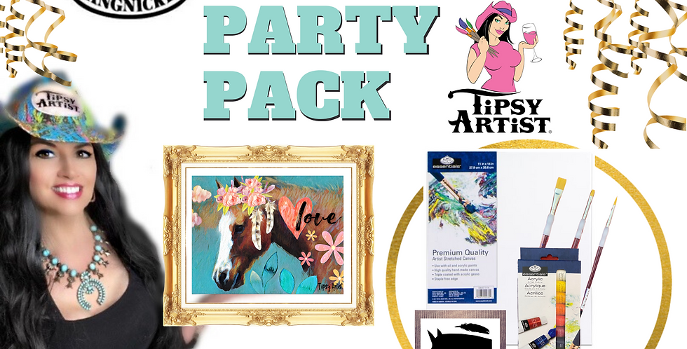 Boho Horse Painting Party Pack