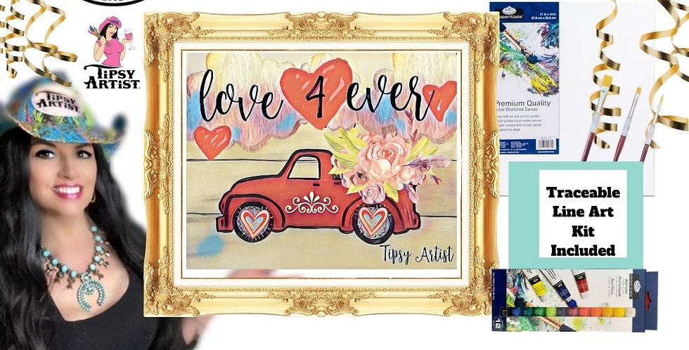 Love 4 Ever Truck~ Painting Kit