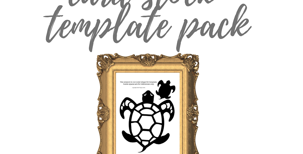 Sea Turtle Mama & Baby Cardstock Template Pack with Online Video Class