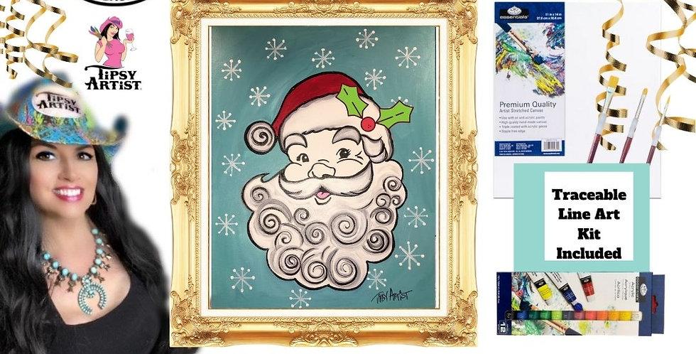 Retro Santa ~ Painting Party Gift