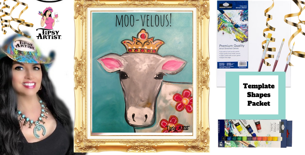 Moo-Velous Princess Cow! ~ Painting Party Pack