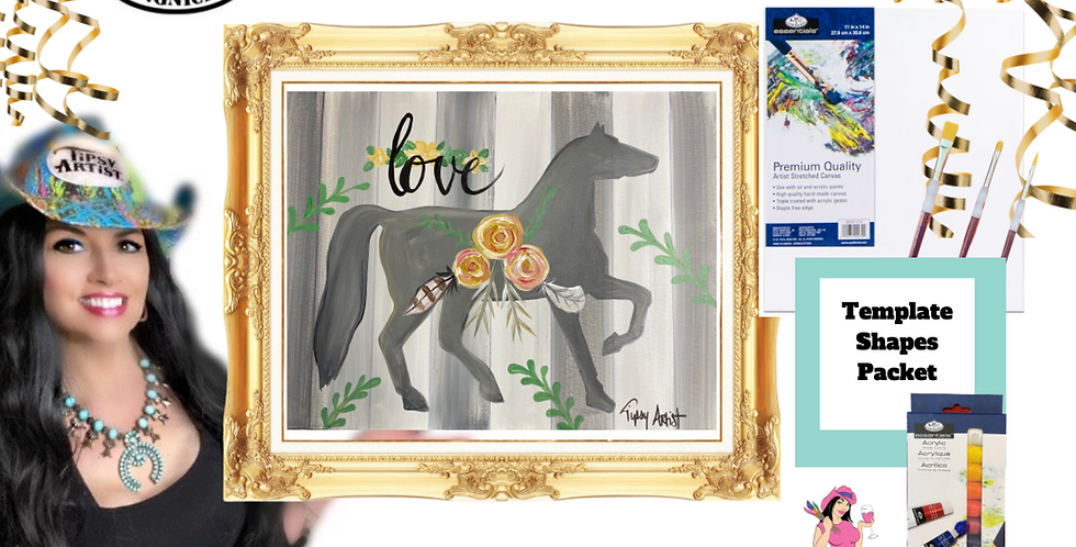 Love Horse ~ Painting Party Pack