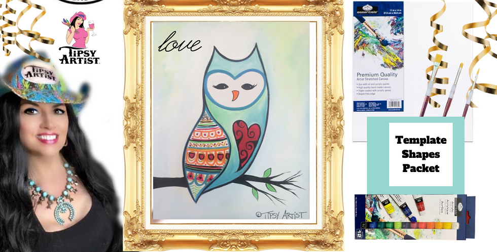 Barn Owl ~ Painting Party Pack