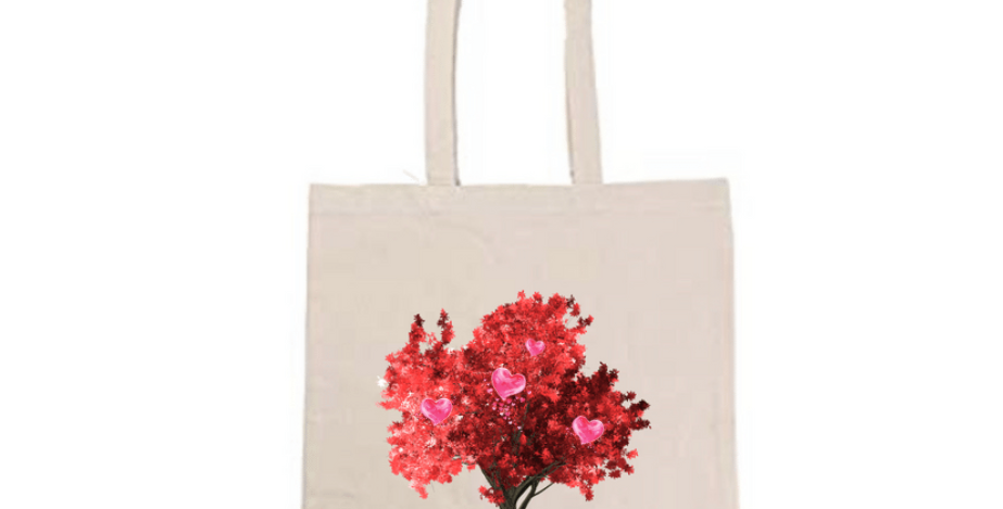 Red Tree of Love Tote Bag ~ Painting Kit