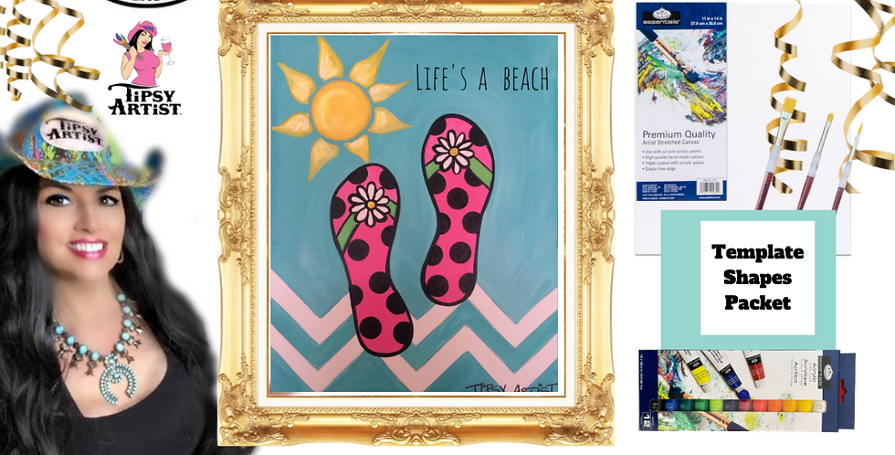 Flip Flops ~ Painting Party Pack